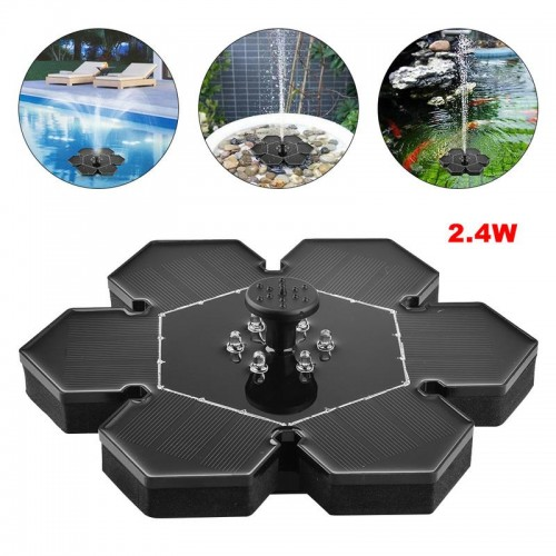 Solar Power LED Fountain Water Pump Floating Outdoor Garden Decoration
