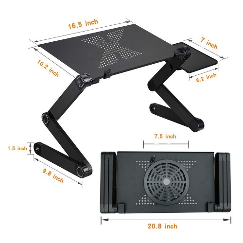Laptop Table Stand With Adjustable Folding Ergonomic Design Notebook Desk For Home And Office