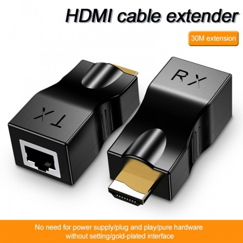 HDMI Cable Extender 4k RJ45 Ports 1080P HD Network HDMI Extension HDMI To RJ45