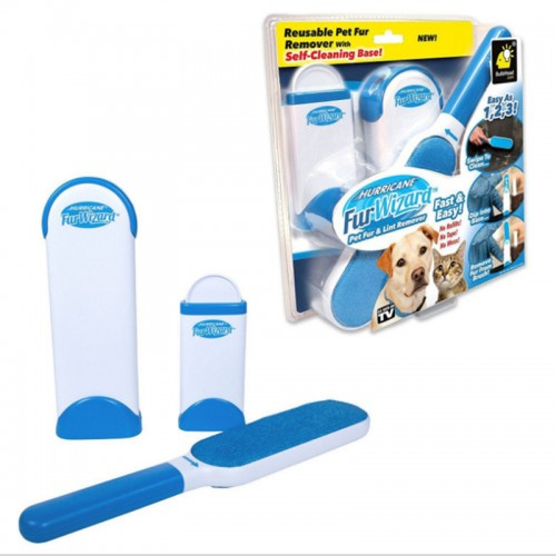 Fur Wizard Pet Fur And Lint Roller Carpet Dust Pet Hair Remover Reusable Washable Brush Fluff Cleaner Sticky Picker