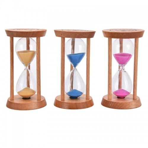 Lovely 3 Mins Wooden Frame Sand Hour Glass Home Kitchen Timer Clock Decor Gift