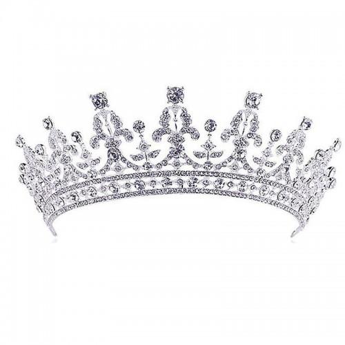 Luxury Crystal Tiara Crowns Princess Queen Pageant Prom Rhinestone Veil Tiara Headband Hair Accessory