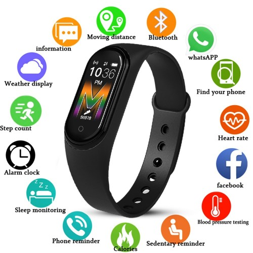 M5 Smart Watch Music Payback Bluetooth Blood Pressure Waterproof Heart Rate Monitor Fitness Bracelet