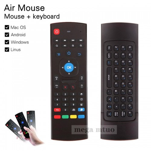 MX3-A Air Mouse Mini Wireless Keyboard Smart Remote Control 2.4G IR For Android TV Box