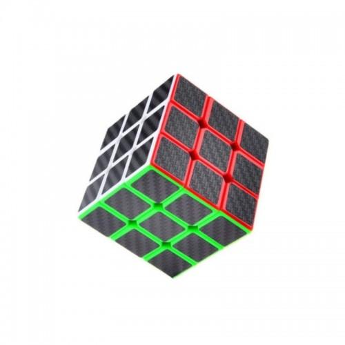 3x3x3 Rubik's Cube Puzzle Twist Toy Smooth Carbon Fiber Sticker Speed Cube