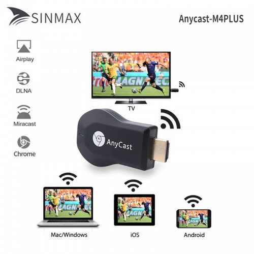 Video Streamer Portable Anycast M4 Plus Mini PC Android TV Stick HDMI WiFi Dongle 2 Mirroring Multiple TV Adapter