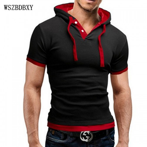 Hooded Sling Short-Sleeved T-Shirt