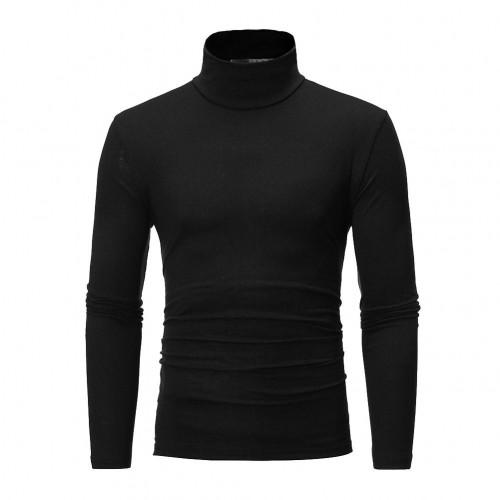 Mens Womens Winter Warm Long Sleeve Fleece High Neck Pullover Top