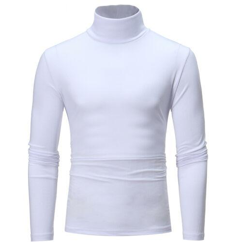 Mens Womens Winter Warm Long Sleeve Fleece High Neck Pullover Top