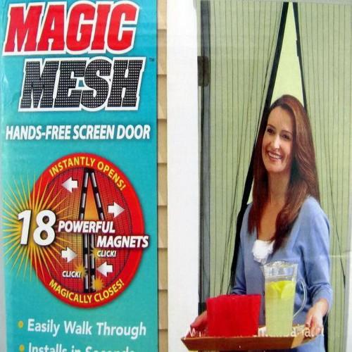 Magic Mesh Hands-Free Fly Screen Door Curtain Net Magnetic Anti Mosquito Mesh Door Guard