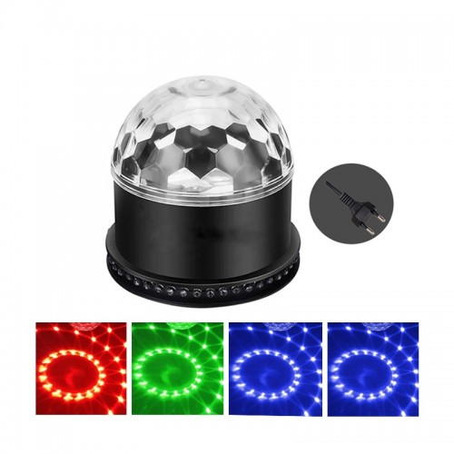 Sound Activated Auto Stage Lighting Effect LED Magic Ball Disco Lamp RGB 5W