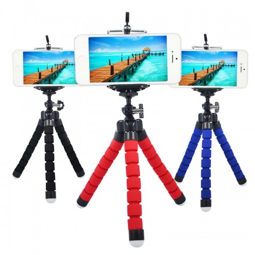Portable Flexible Spong Adjustable Octopus Tripod  Phone Holder Stand