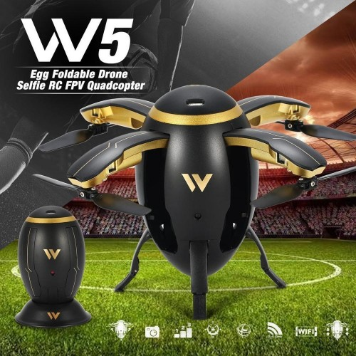 W5 Mini Egg Shaped RC Drone HD Camera Flying Quadcopter With WIFI FPV Foldable