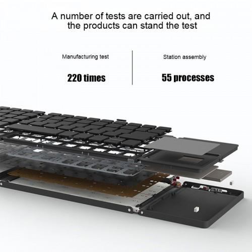 BT-033 Mini Folding Keyboard Touchpad Bluetooth 3.0 Wireless Keypad For Windows Android Ios