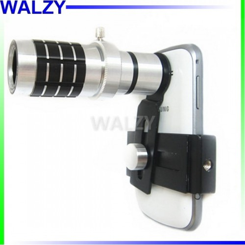 Mobile Phone Telescope Camera 12x Zoom  And Lens Holder For All Phones