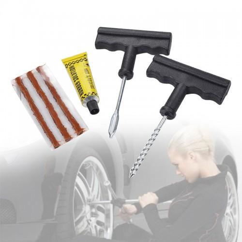 6 In 1 Motorcycle Car Tubeless Tyre Puncture Repair Kit Tool