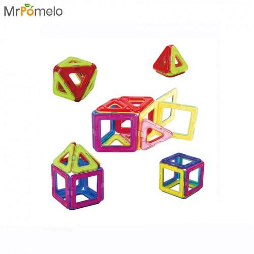 20PCS Magnetic Toy Designer Plastic Building Block 3D DIY Kids Learning Bricks Educational