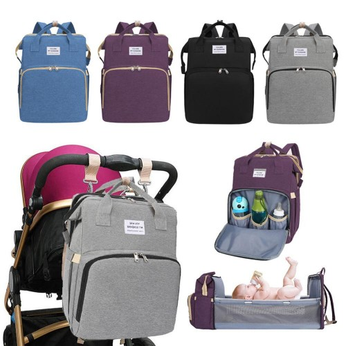 Multi-Function Portable Folding Diaper Bag Mummy Baby Travel Large Backpack
