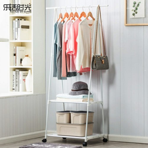 Multifunction Clothes Hanger Triangle Coat Rack Removable Bedroom Hanging Rack With Wheels