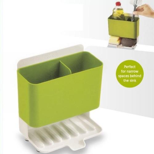Multifunction Kitchen Storage Rack Oil Spices Can Jar Organizer Cleaning Sponge Draining Shelf Gadget Holder Stand