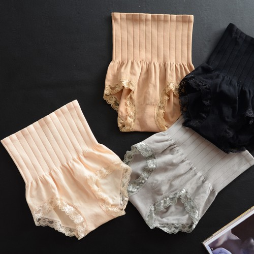 High quality seamless high waist belly lace body shapers