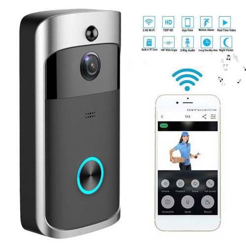Wireless Camera Video Doorbell WiFi Ring Home Security Smartphone Remote Monitoring Alarm Sensor