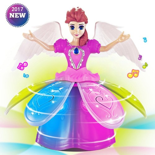 Dancing Angel Doll With Music Lights Princess Girl Multifunction LED Electronic Robot