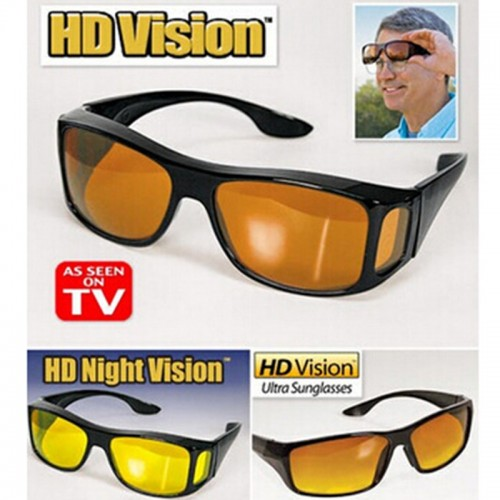 Pack Of  2 HD Vision Glasses Sunglasses Men Night Driving Protective Eyewear Goggles Driver Safety Sun Glasses