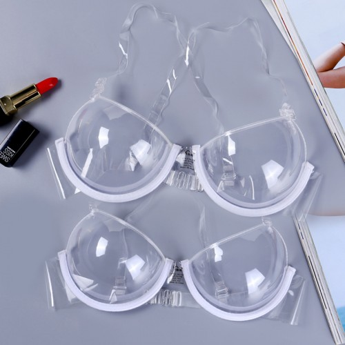 Transparent Exquisite Underwire Clear Invisible Seamless TPU & PVC Push Up Thermoplastic Polyurethane Bra