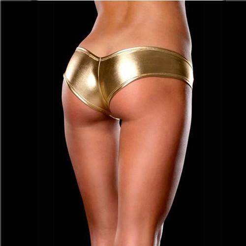 New Shiny Womens  Briefs Metallic Color G-String Thong Underwear Panties Lntimates