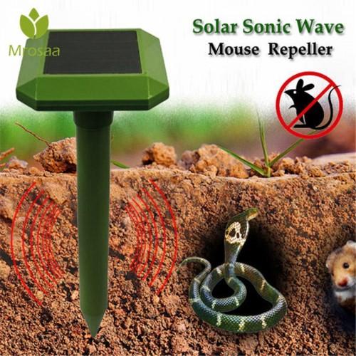 Solar Power Mole Repeller Outdoor Garden Animal Solar Power