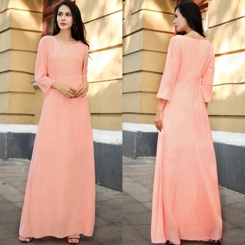 Solid Color Women Party Long Dress High Waist Summer Maxi Boho Evening Long Maxi Dress