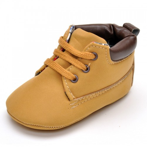 Newborn Babies Shoes Lace-up Soft Bottom Cotton Shoes Sneakers First Walker