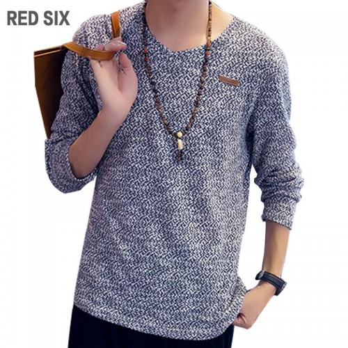 V-neck Long Sleeve Decorative Knitting T-Shirt