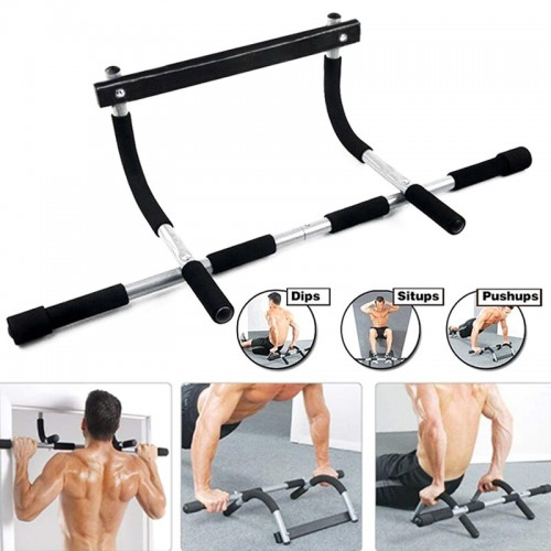 Newly Iron Gym Pull Up Sit Up Door Bar Portable Chin-Up For Upper Body Workout Doorway