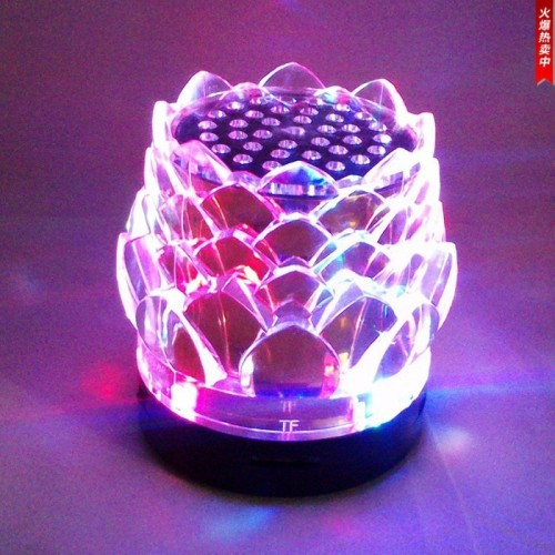 Night Lights Bluetooth Speaker Color Changing Wireless Speaker With Lights USB TF FM Radio