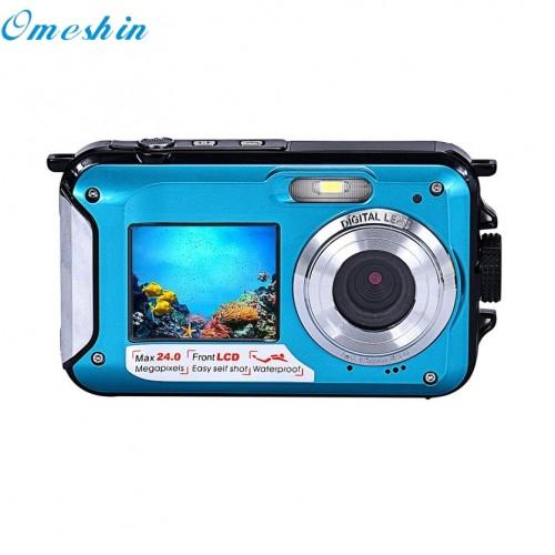 Double Screen Waterproof Camera 24MP 16x Digital Zoom Dive Camera