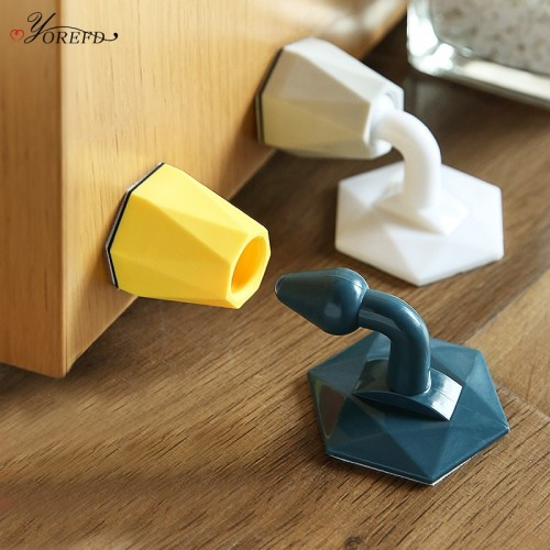Pack Of 2 Pcs Anti-Collision Silicone Floor Suction Door Stopper Protector Home Door Silent Wall Protection