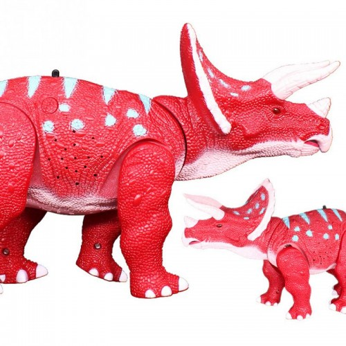 Oversized Hand-Operated Remote Control Triceratops RC Walking With Shaking Head Light Up Eyes And Sounds