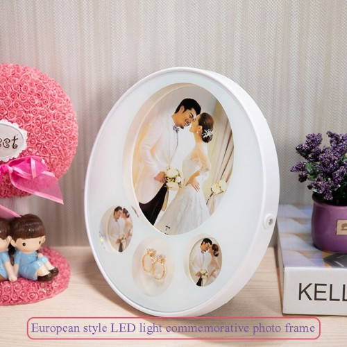 European Acrylic Photo Frame 7 inch photo Wall Photo Room Home Decoration With Light