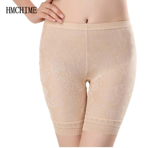 Lace Women Safety Short Pants Flowers Female Panties Anti-light Underwear Briefs Stretch Intimates