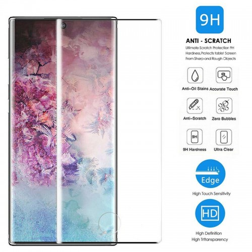 Samsung Note 10 LITO Tempered Glass 9H Curved Screen Protector UV Glue Full Coverage High Quality