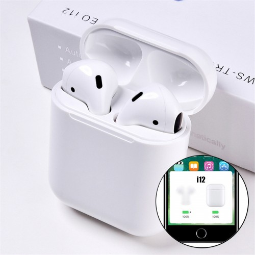 I12 Mini Touch TWS Bluetooth Earphone 5.0 Stereo Headset Charging Case Wireless Earbuds