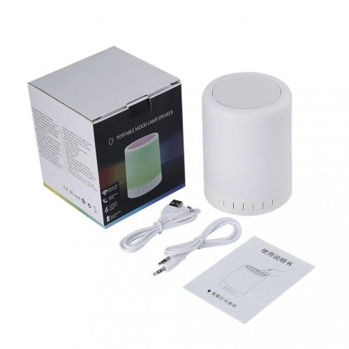Portable Lamp Bluetooth Wireless Speaker Handsfree Intelligent Touch Mood