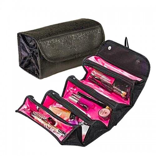 Women Traveling Hanging Cosmetic Bag Transparent Zipper Case Make Up Folding Bag Necessaries Storage Organizer
