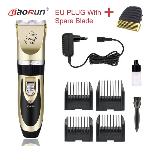 Professional Rechargeable Dog Hair Trimmer Electrical Pet Clipper Shaver Set