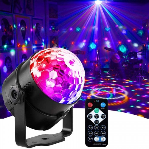 LED Party Night Light RGB Projector With Rotating Disco Lamp