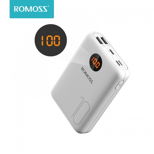 ROMOSS 10000mAh Power Bank With Double USB Port Travel Size Portable Smartphone Charger
