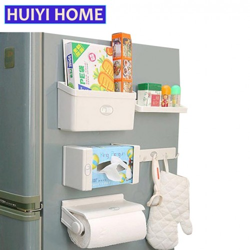 Refrigerator Shelves 5pcs/Set Combination For Fridge Multi Purpose Magnet Shelf Plastic Storage Rack