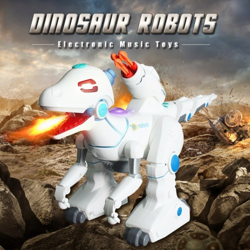 Remote Control Interactive Robots Electric Dinosaurs Walking Fire Dragon Kids Toys